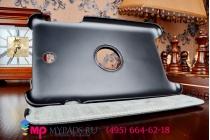 Чехол для Asus Memo Pad 8 ME180A model K00L поворотный роторный оборотный черный кожаный