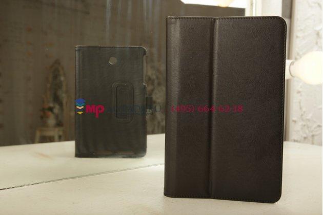 """Чехол-книжка для asus memo pad 8 me180a model k00l черный натуральная кожа """"prestige"""" италия"""