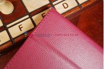Фирменный чехол-футляр для Asus MeMO Pad 8 ME180A малиновый кожаный