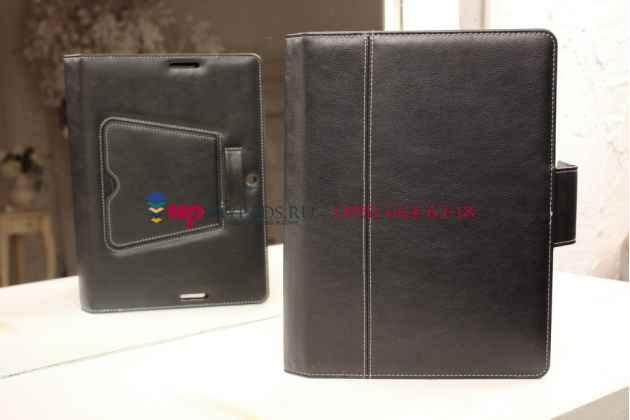 Чехол со съёмной bluetooth-клавиатурой для asus memo pad fhd 10 me302kl черный кожаный + гарантия