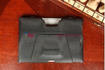 Чехол обложка для планшета док-станции asus padfone e черный кожаный