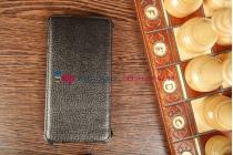 """Фирменный чехол-книжка для телефона Asus Padfone Infinity New A86 T004 черный натуральная кожа """"Prestige"""" Италия"""
