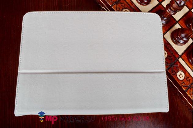 Чехол обложка для планшета (док станции) asus padfone s pf500kl белый кожаный