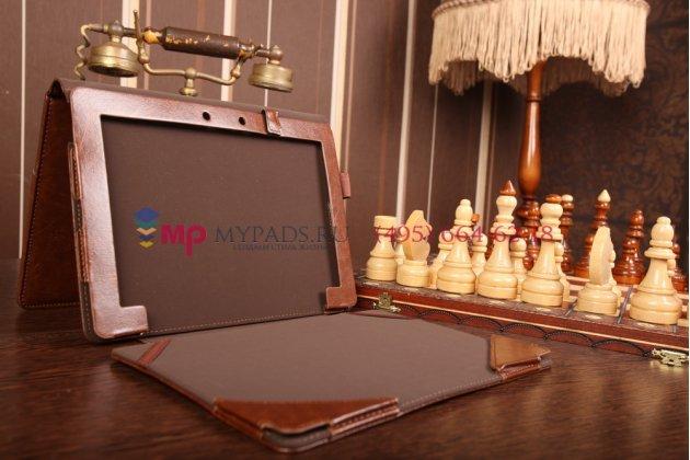 Чехол для asus new transformer pad tf701t-1b026a + dock model k00c коричневый с отделением под клавиатуру кожаный