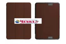 """Фирменный умный чехол самый тонкий в мире для Asus Transformer Book T101/T101HA"""" коричневый пластиковый Италия"""