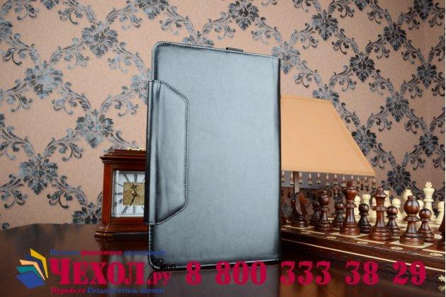 Чехол-футляр для asus t300chi-fh011h с отделением под клавиатуру /док станцию черный кожаный