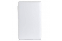 Фирменный чехол-футляр для Asus Transformer Book T3 Chi / T300 Chi с отделением под клавиатуру /док станцию белый кожаный