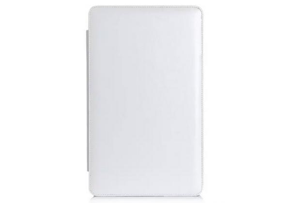 Чехол-футляр для asus transformer book t3 chi / t300 chi с отделением под клавиатуру /док станцию белый кожаный