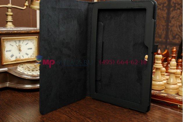 Чехол обложка для asus transformer pad tf103cg черный кожаный