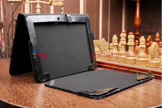 Чехол для asus transformer pad tf103c/tf103cg k018 dock keyboard с отделением под клавиатуру черный кожаный