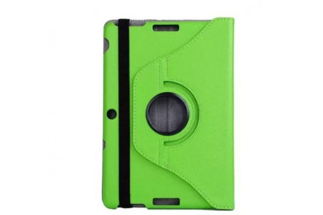 Чехол для asus transformer pad tf300tg/tf300tl зелёный поворотный кожаный