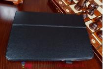 Фирменный чехол обложка для Asus Transformer Pad TF303CL model K014 черный кожаный