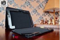 Фирменный чехол для ASUS Transformer Pad TF303CL LTE K014 dock Keyboard с отделением под клавиатуру черный кожаный