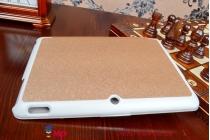 """Фирменный умный чехол-книжка самый тонкий в мире для ASUS Transformer Pad TF303CL LTE K014 """"Il Sottile"""" золотой пластиковый"""