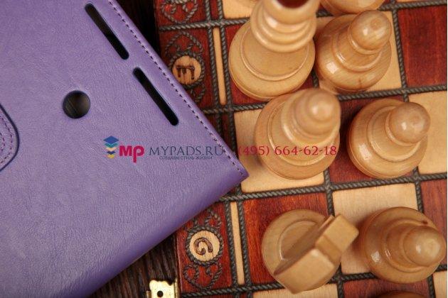 """Чехол-книжка для asus vivotab note 8 m80ta с визитницей и держателем для руки фиолетовый кожаный """"prestige"""" италия"""