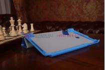 """Умный чехол-обложка самый тонкий в мире для asus vivotab note 8 m80ta b014g2 """"il sottile"""" голубой пластиковый италия"""