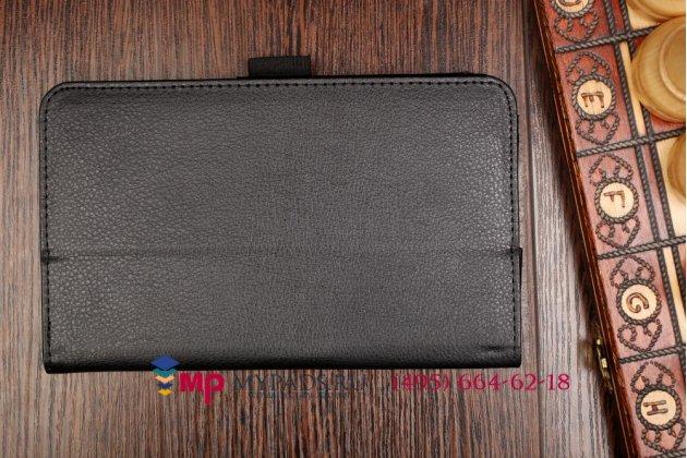 Чехол для asus fonepad 7 fe170cg 8gb (90nk0121-m03110) черный кожаный с держателем для руки