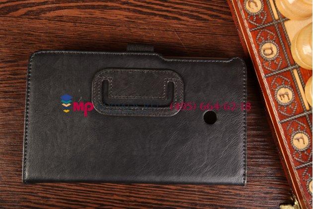 """Чехол обложка для asus fonepad 7 fe170cg model k012 с визитницей и держателем для руки черный натуральная кожа """"prestige"""" италия"""