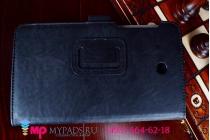 """Чехол бизнес класса для asus fonepad 7 fe375cxg k019 с визитницей и держателем для руки черный натуральная кожа """"prestige"""" италия"""