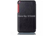 """Фирменный умный чехол самый тонкий в мире для планшета Asus Fonepad 8 FE380CG model K016 """"Il Sottile"""" черный кожаный"""