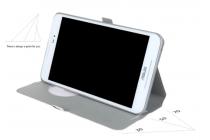 Фирменный чехол-книжка с безумно красивым расписным кислотным-мульти-рисунком на Asus Fonepad 8 FE380CG/FE380CXG (K016) с окошком для звонков