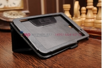 Чехол обложка для asus memo pad 7 me176cx model k013 черный кожаный с держателем для руки
