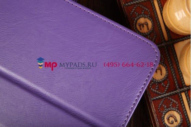 """Чехол бизнес класса для asus memo pad 7 hd me176cx model k013 с визитницей и держателем для руки фиолетовый натуральная кожа """"prestige"""" италия"""