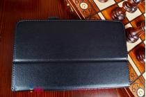 Чехол обложка с подставкой для asus memo pad 8 fhd me581cl model k015 черный кожаный