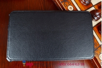 """Чехол для планшета asus memo pad 8 fhd me581cl model k015 с мульти-подставкой и держателем для руки черный кожаный """"deluxe"""" италия"""