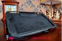 Фирменный чехол-обложка с подставкой для Asus Memo Pad 8 ME181CX model K011 черный кожаный