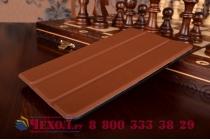 """Умный чехол самый тонкий в мире для планшета asus zenpad 7.0 дюймов z370c/z370cg """"il sottile"""" коричневый кожаный"""