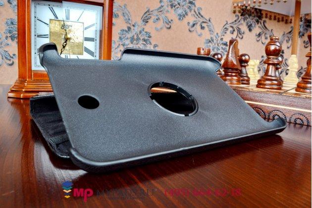 Чехол для asus memo pad 7 me176cx model k013 поворотный роторный оборотный черный кожаный