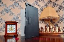 """Чехол бизнес класса для asus transformer book t200ta с визитницей и держателем для руки черный натуральная кожа """"prestige"""" италия"""