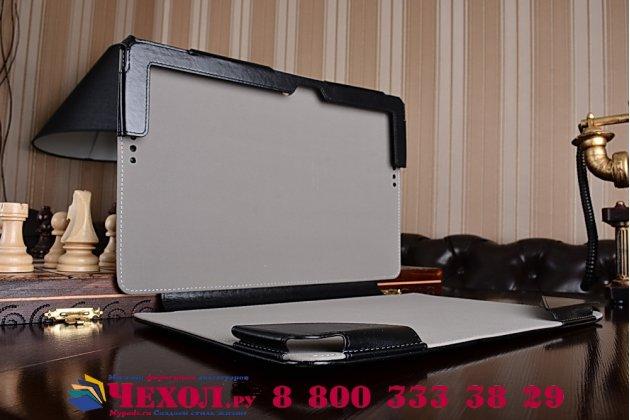 Чехол для asus transformer book t200ta dock keyboard с отделением под клавиатуру черный кожаный