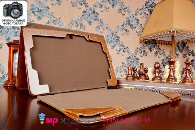 Чехол для asus transformer book t200ta-cp004h dock keyboard model b06i4 с док-станцией коричневый кожаный