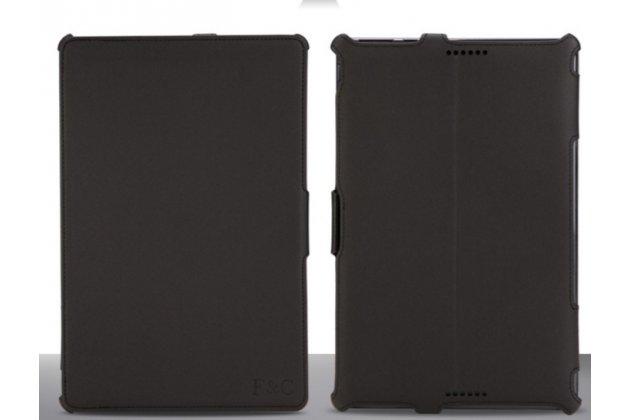 """Чехол открытого типа без рамки вокруг экрана с мульти-подставкой для asus transformer book t100ta черный кожаный """"deluxe"""""""