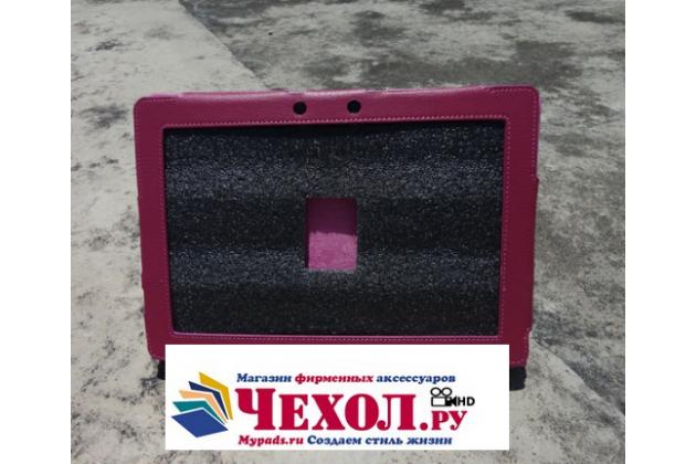 Чехол для asus transformer pad infinity tf700t/tf700kl розовый кожаный