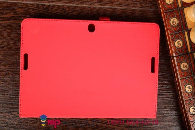 Чехол-футляр для asus transformer pad tf103c/tf103cg красный кожаный