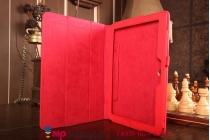 Фирменный чехол-футляр для Asus Transformer Pad TF103C/TF103CG красный кожаный
