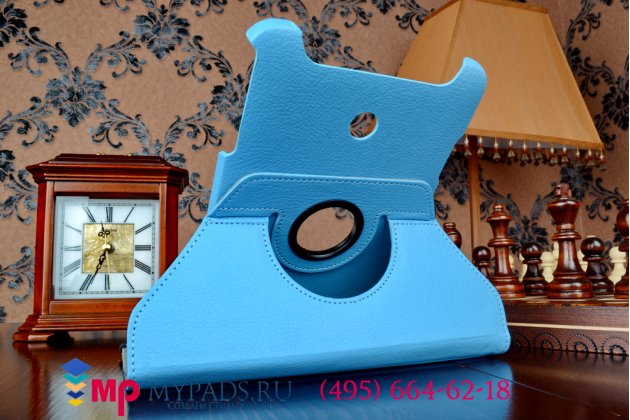 Чехол для asus vivotab note 8 m80ta model b04g2 поворотный роторный оборотный голубой кожаный