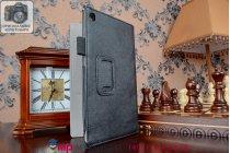 """Чехол бизнес класса для asus memo pad 7 me572c/me572cl k00r с визитницей и держателем для руки черный натуральная кожа """"prestige"""" италия"""