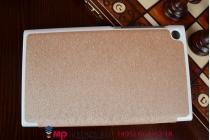 """Фирменный умный чехол-книжка самый тонкий в мире для Asus Memo Pad 7 ME572C/ME572CL K00R """"Il Sottile"""" золотой пластиковый"""