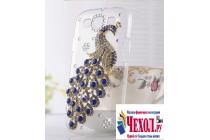 Роскошная элитная пластиковая задняя панель-накладка украшенная стразами кристалликами и декорированная элементами для blackberry leap z20 тематика жар-птица