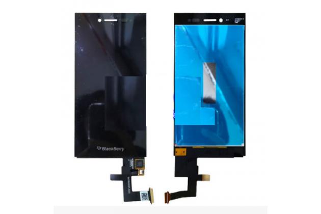 Lcd-жк-сенсорный дисплей-экран-стекло с тачскрином на телефон blackberry leap z20 черный + гарантия