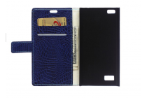 Чехол-книжка с подставкой для blackberry leap z20  лаковая кожа крокодила фиолетовый