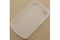 Ультра-тонкая полимерная из мягкого качественного силикона задняя панель-чехол-накладка для blackberry q10 белая