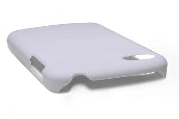 Задняя панель-крышка-накладка из тончайшего и прочного пластика для blackberry q10 белая