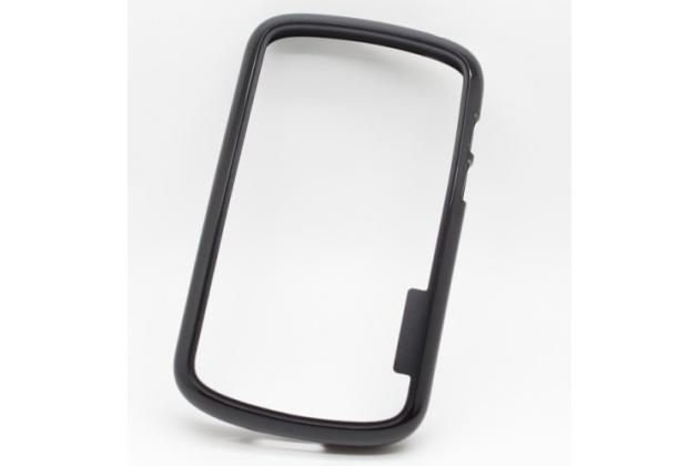 Ультра-тонкий чехол-бампер из мягкого силикона для blackberry q10 черный