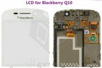 Lcd-жк-сенсорный дисплей-экран-стекло с тачскрином на телефон blackberry q10 classic белый + гарантия