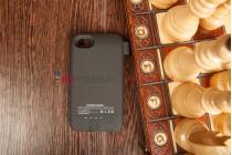 Чехол со встроенной усиленной мощной батарей-аккумулятором большой повышенной расширенной ёмкости 2800mAh для Blackberry Q5 черный + гарантия